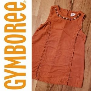 Gymboree Burnt Orange Corduroy Jumper Dress